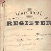 Image of Historical Register of Navarre Commandery No 45 KT Carrollton Mo - 2017.1.17