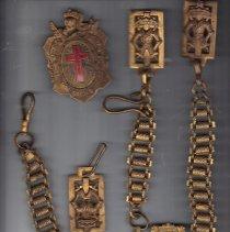 Image of Masonic Knight Templar Sword Belt Chains - 2017.1.31