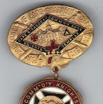 Image of 1912 Grand Commandery of Missouri Annual Conclave Medal - 2016.11.109