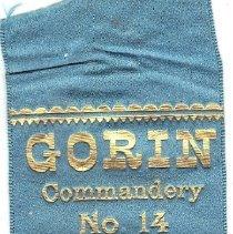 Image of Gorin Commandry No 14 1889 Grand Encampment Commemorative Ribbon - 2016.11.55