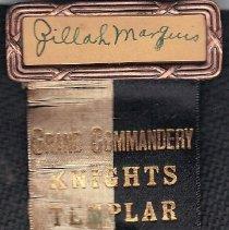 Image of Grand Commandery, Missouri, nametag 1933 - 2016.11.89