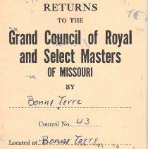 Image of Annual Return: Bonne Terre Council No 43 R&SM