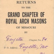 Image of Annual Returns: Fayette Council No 94 R&SM