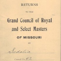 Image of Annual Returns: Sedalia Council No 42 R&SM