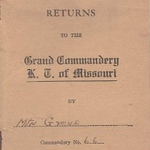 Image of Annual Returns--Mt Grove Commandery No 66 KT - 2017.3.64