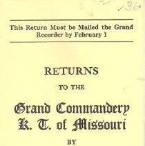 Image of Annual Returns-Missouri Commandery No 36 KT - 2017.5.162