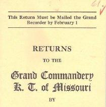 Image of Annual Returns--Malden Commandery No 36 - 2017.5.217
