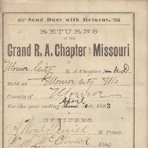 Image of Annual Returns--Monroe City Chapter No 104