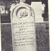 Image of Benjamin Groverct Headstone Tandy Allison Dunn Grand High Priest 1906-1907 - 2017.5.67