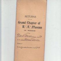 Image of Annual Returns--Mt Vernon Chapter No 81 - 2017.5.79