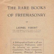 Image of Bookman Journal - Freemasonry--Biblography
