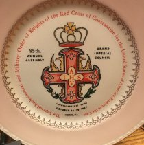 Image of 1957 Grand Imperial Council RCC Commerative Plate - 2017.6.589