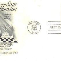 Image of Sam Houston FDC - 2017.7.283