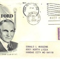 Image of Henry Ford First Day Cover - 2017.7.293