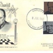 Image of Sir Winston Churchill First Day Issue Postage Stamp 1965 - 2017.7.89