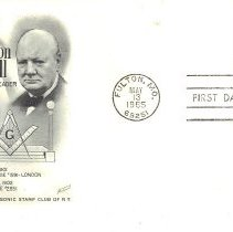 Image of Sir Winston Churchill First Day Issue Postage Stamp 1965 - 2017.7.90