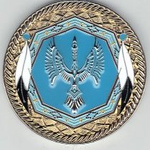 Image of Oklahoma Indian Degree Team Coin (Reverse)