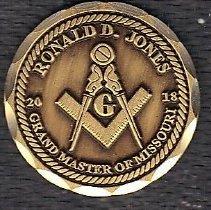 Image of Grand Master Ronald J Jones Label Pin - 2017.10.12