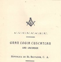 Image of Correspondence between San Salvador Masons and Ray V Denslow 1927-1953 - 2017.10.49