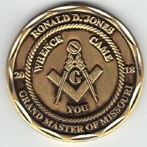 Image of Grand Master Ron Jones Coin 2018 - 2017.10.53