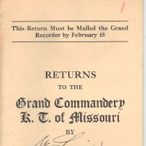 Image of Annual Returns--St Louis Commandery No 1 KT - 2017.10.91