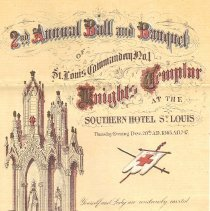 Image of St Louis Commandery No 1 KT Ball and Banquet Program - 2017.11.13