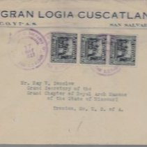 Image of Correspondence Gran Logia of San Salvador to Ray V Denslow 1945 - 2017.11.27