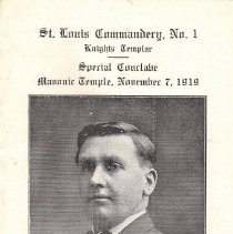 Image of St Louis Commandery No 1 KT Special Conclave Program 1919 - 2017.11.9