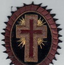 Image of Vintage Masonic Knight Templar Chapeau Ceremony Uniform Patch Rosette - 2017.8.44