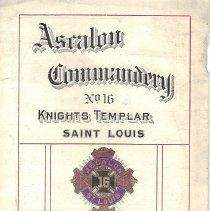 Image of Itenerary Ascalon Commandery Triennial Conclave Pilgrimage Aug 1913 - 2017.11.42