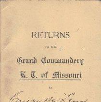 Image of Annual Returns: Couer de Leon Commandery No 14 KT