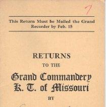 Image of Annual Returns: Emmanuel Commandery No 7 KT
