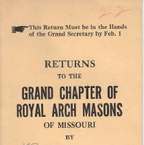 Image of Annual Returns--Macon Chapter No 22 RAM