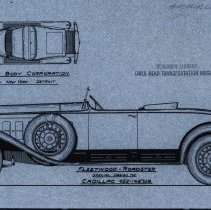 Image of Cadillac Fleetwood Roadster sketch
