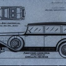Image of Cadillace Fleetwood Inside Drive sketch