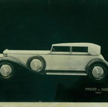 Image of Photograph of an automobile sketch by Hibbard & Darrin, Paris; n.d.