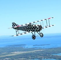 Image of 1917 SPAD XIII Biplane Reproduction - in flight