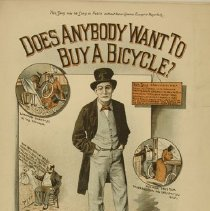 "Image of ""Does Anybody Want to Buy a Bicycle"" sheet music, 1893"