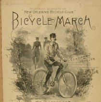 "Image of ""Bicycle March' sheet music, 1892"
