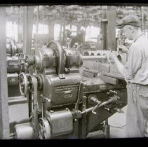 Image of Grinding cylinders for Curtiss Motor for 1920 Oriole airplane.