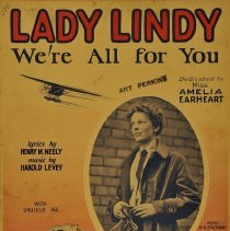 "Image of Sheet music: ""Lady Lindy (We're All For You)"", dedicated to Amelia Earhart"