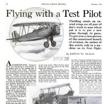 Image of Flying with a Test Pilot - 1st page only