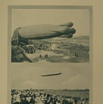 Image of Clement-Bayard airship; Zeppelin III over Berlin