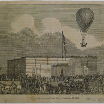 Image of Durant's ascension from Boston 1834