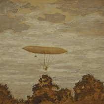 Image of French airship 1000 feet in the air