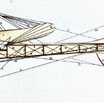 Image of 1911 paper Taube model - side elevation