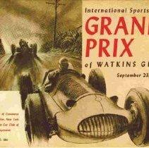 Image of Cover of program for 1950 Watkins Glen International Sports Car Grand Prix