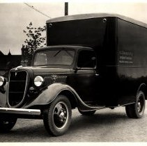 Image of A.L. Diament & Co. Interior Furnishings' Ford panel truck