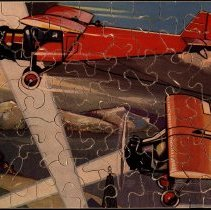 Image of Wooden airplane jigsaw puzzle, ca. 1932