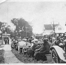 Image of Hix Memorial dedication ceremony, South Thomaston, Maine, August 1923
